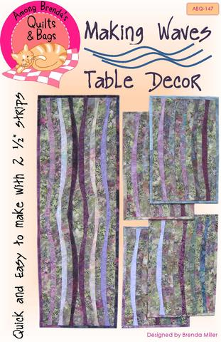 making wave place mat and table runner pattern