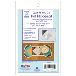 quilt as you go dog place mat