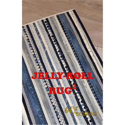 jelly roll rug squared pattern