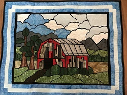 big old barn wallhanging pattern