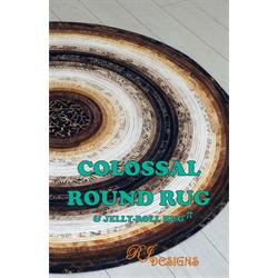 colassal round rug pattern