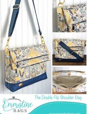 double flip shoulder bag pattern