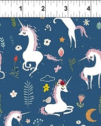 mermaids and unicorns fabric line