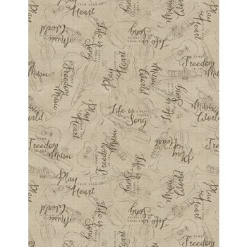 musical gift fabric line