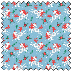 holiday unicorn fabric