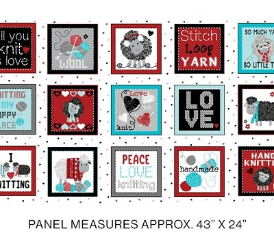 all you knit is love fabric line