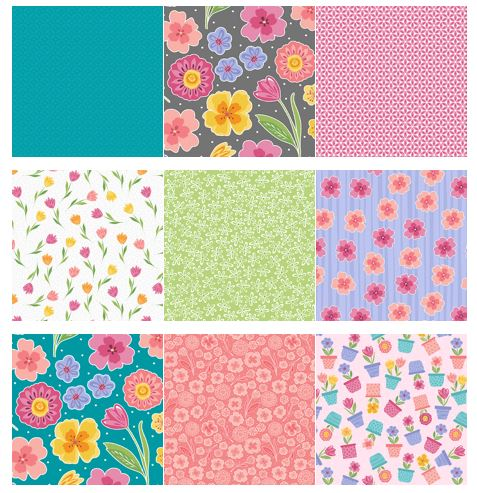 full bloom fabric line